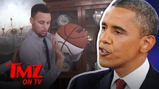 Barack Obama Takes Credit For Steph Curry's Lethal Jump Shot | TMZ TV