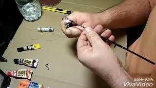 Как  быстро и дёшево заменить кольцо (тюльпан) на  спиннинге часть первая