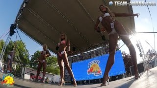 SCITEC MUSCLE BEACH DAY #2 | backstage girls & party