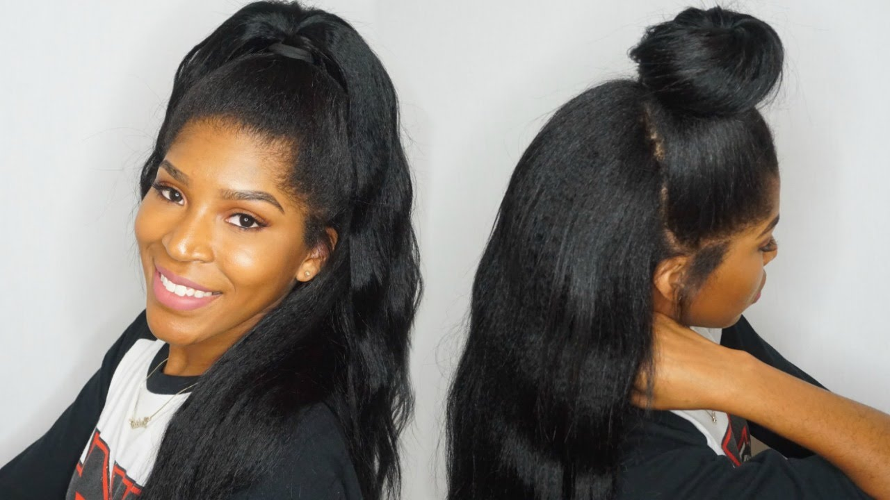 half up half down using clip ins ft.knappyhairextensions
