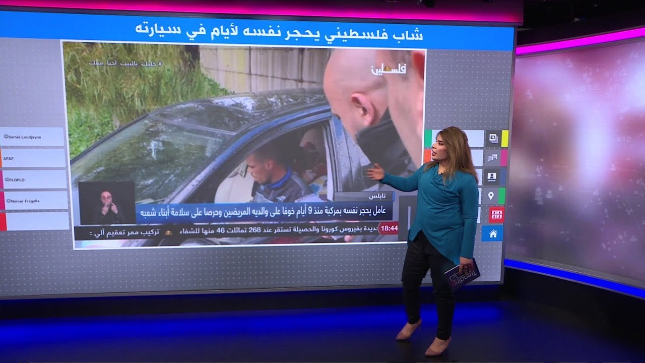 لحماية والديه من كورونا، فلسطيني يعزل نفسه لأيام في سيارة