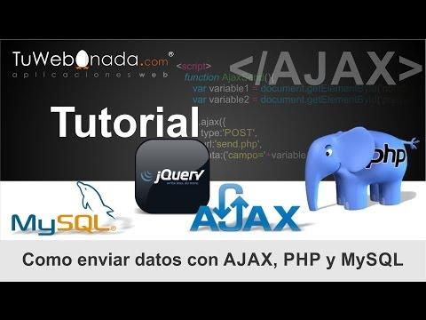 Como enviar datos con AJAX, PHP, MySQL, jQuery y CSS