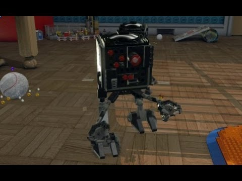 Lego Movie Videogame Golden Instruction Build 11 Micro Manager Walker Youtube