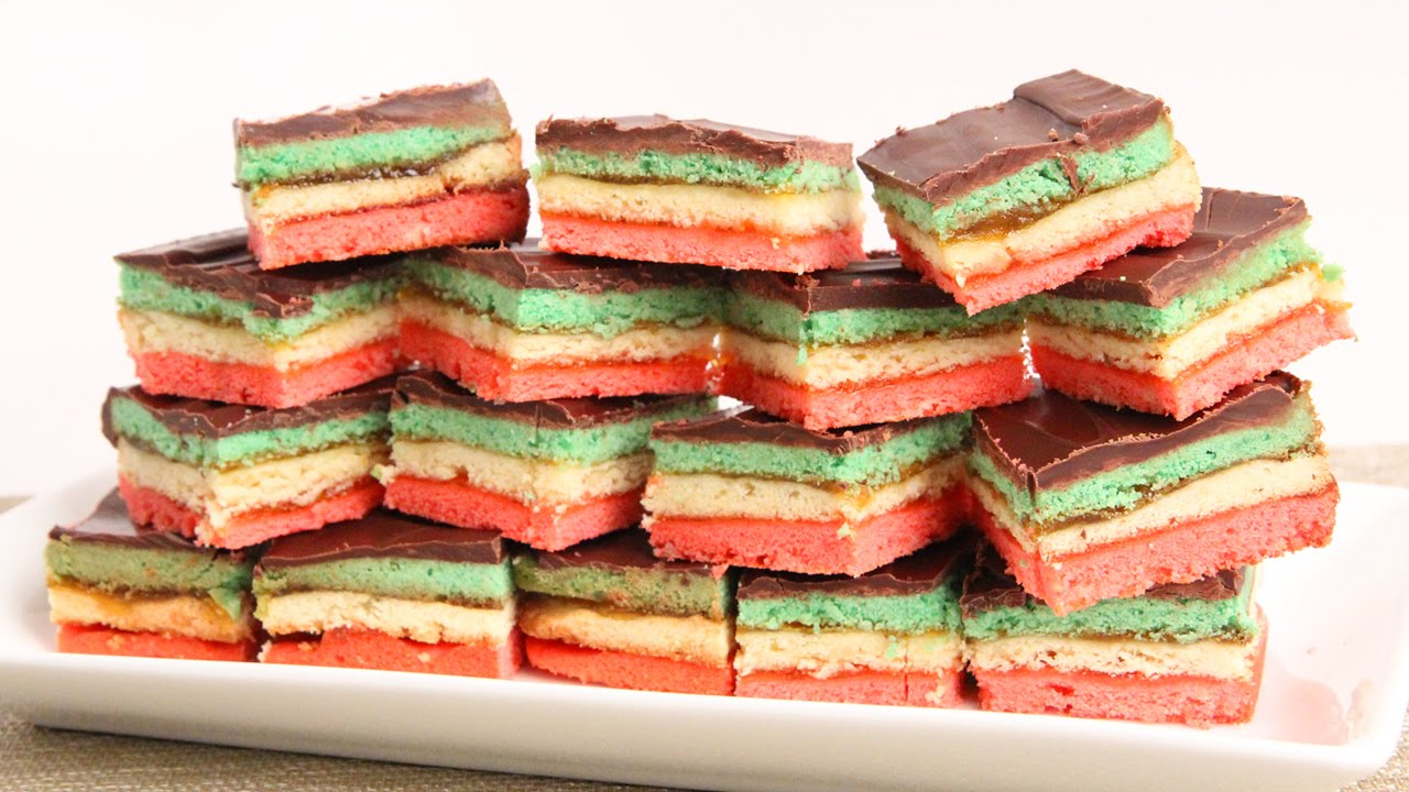 Seven layer rainbow cookie recipe
