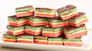 Italian Rainbow Cookies Recipe - Laura Vitale - Laura In The Kitchen Episode 882