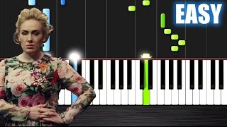 Adele - Send My Love (To Your New Lover) - EASY Piano Tutorial by PlutaX