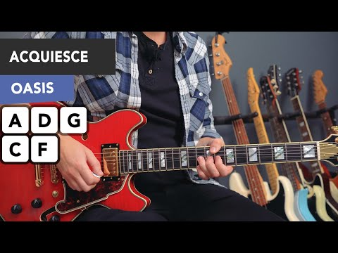 Oasis Acquiesce Guitar Lesson Tutorial - All Riffs & Chords