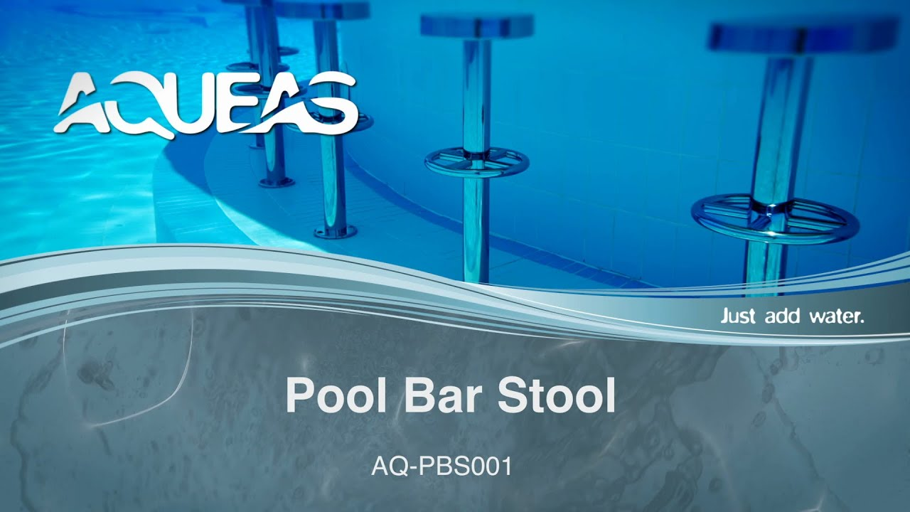 Underwater Pool Bar Stool Aqueas Drizign Youtube