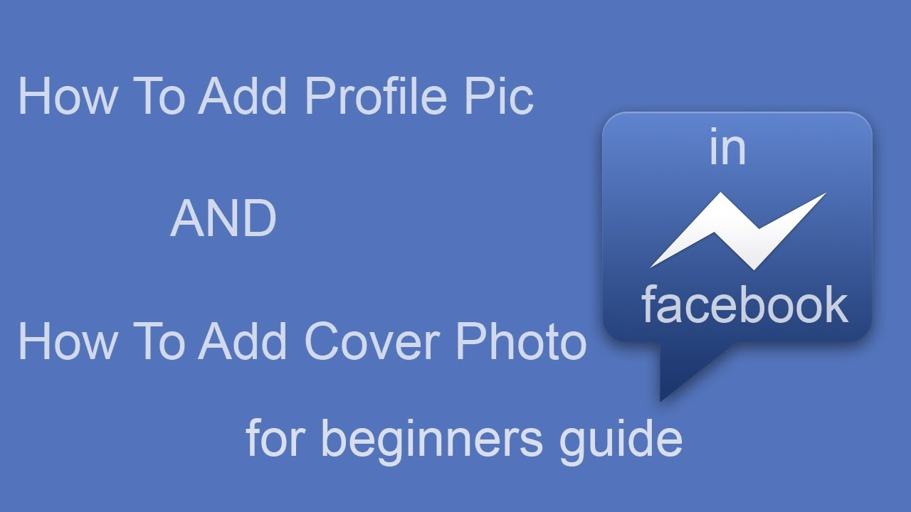 Facebook company profile - How To Add Profile Pictutre And Cover Photo In Facebook