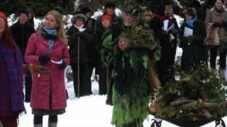 winter solstice 2010 at the Chalice Well in Glastonbury