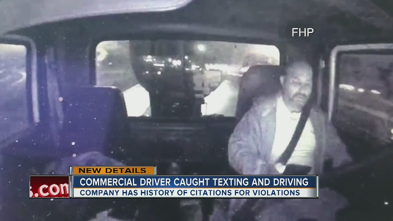 Video Shows Truck Driver Using Cell Phone Seconds Before