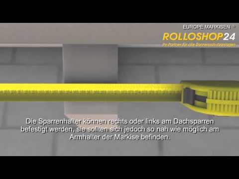 Rolloshop24 Markisen Montage Europe 2060 Youtube
