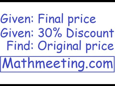 percentage word problem 4 youtube. Black Bedroom Furniture Sets. Home Design Ideas