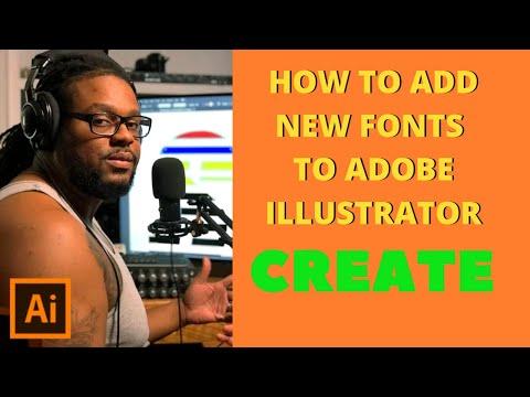 Вопрос: Как добавить шрифты в Illustrator?