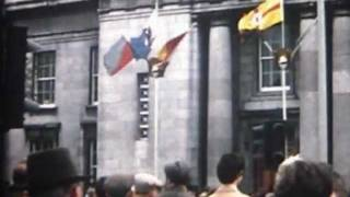 Eamon De valera gets freedom of cork City in 1973