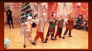 """Новогодний утренник в детском саду Танец """"Богатырей"""""""