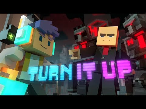 ♪ Turn It Up  A Minecraft Original Music Song ♪