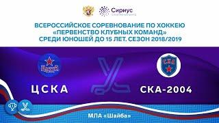 Хоккейный матч. 7.04.19. ХК «ЦСКА» / ХК «СКА-2004»