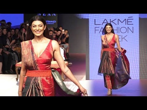Sushmita Sen Beats Aishwarya Rai & Priyanka Chopra At Ramp Walk On Lakme Fashion Week 2018
