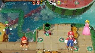 Super Mario Party Partner Party #216 Watermelon Walkabout Diddy Kong & Mario vs Dry Bones & Monty
