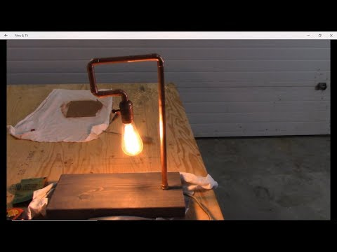 DIY How to make a copper pipe table lamp simple easy