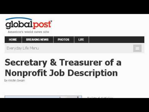 Nonprofit Treasurer Duties  Youtube
