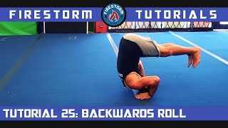 Tumbling Tutorial 25: Backwards Roll