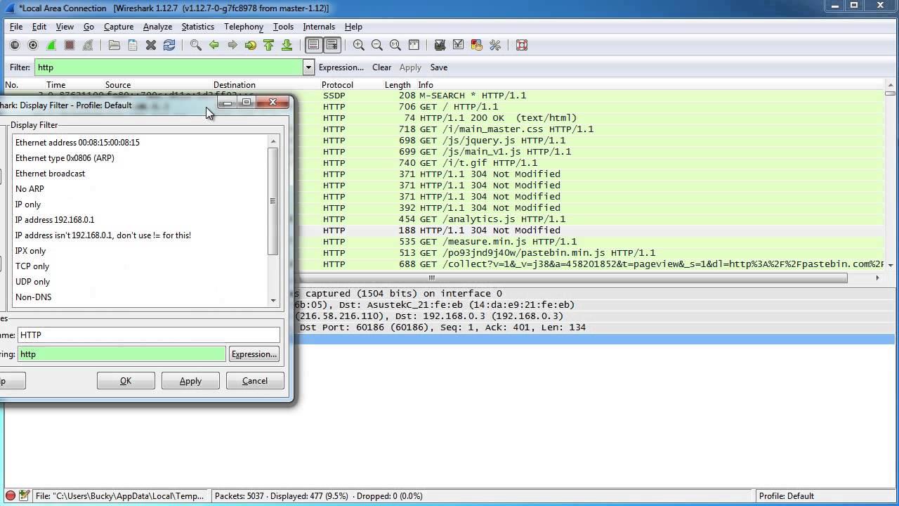 Wireshark Tutorial For Beginners 5 Filters Youtube