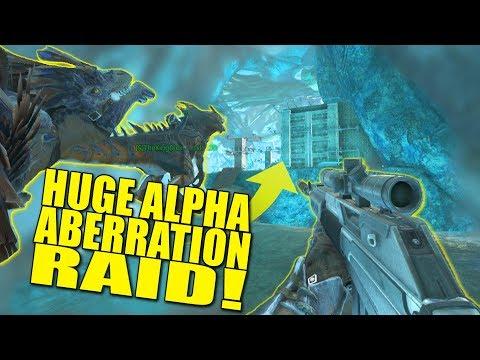 HUGE ALPHA ABERRATION RAID! (pvp) - Ark:Aberration - Ep.9