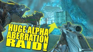HUGE ALPHA ABERRATION RAID! (pvp) - Ark:Aberration - Ep.9