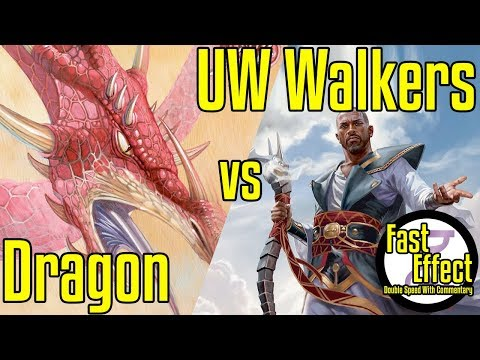 Dragon VS UW Walkers | Legacy Magic: The Gathering W/Commentary | Brainstorm MTG | Fast Effect