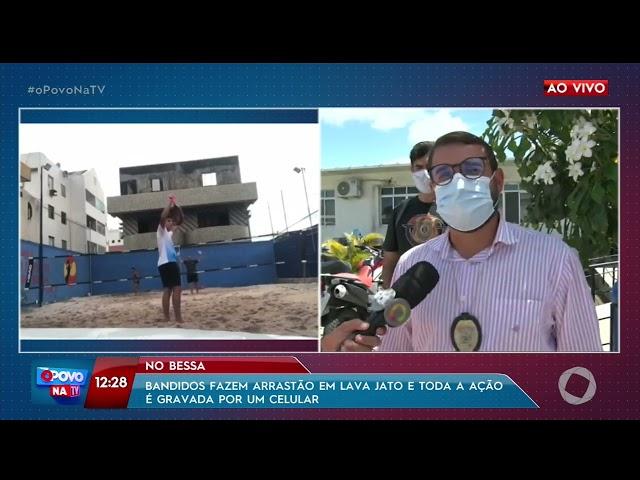 Bandidos fazem arrastão em lava jato e toda ação é gravada por celular - O Povo na TV