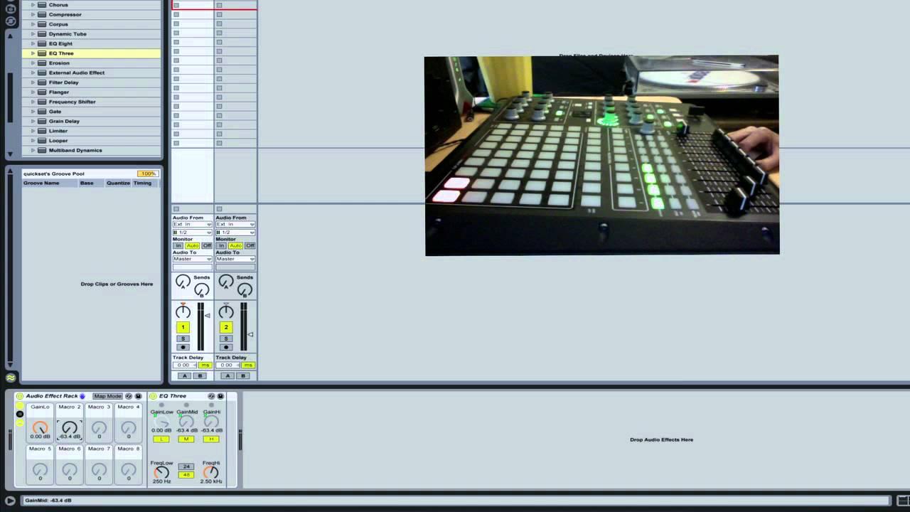 Ableton tutorial: qt e. 13 apc 40 volume fader parameters.