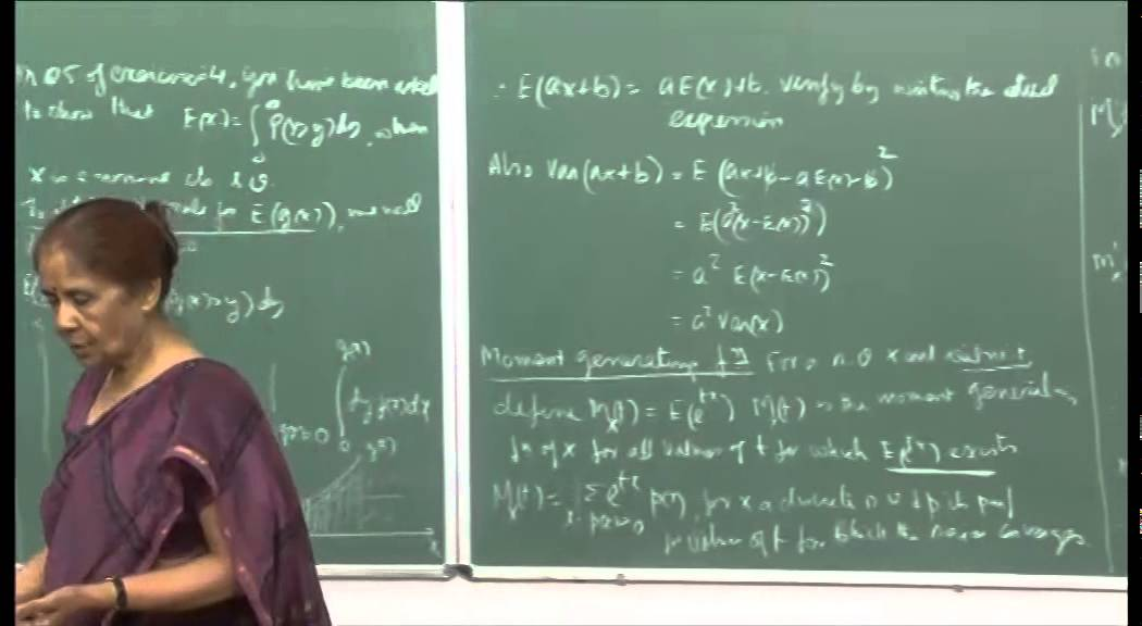 Mod-01 Lec-11 Function of random variables, Momement generating function