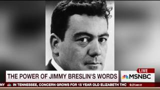 Breslin inspired every emotion but indifference. He was a magical, magical writer (20 March 2017)