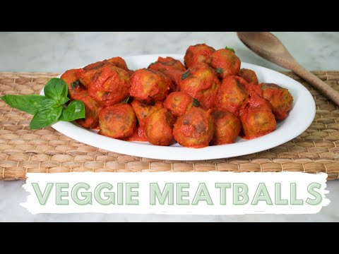 "Meatless Meatballs Recipe | VEGETARIAN ""Meatballs""  (SO EASY)"
