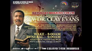 Services for Rev. Clay Evans 12/7/2019