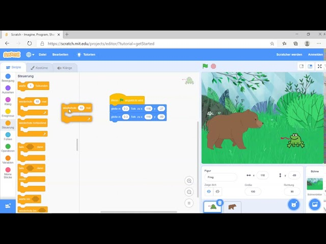 Scratch -  Wiederhole Befehl programmieren