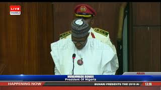 President Buhari Presents 2019 Appropriation Bill To NASS Pt.1 |Live Event|