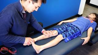 Dr. Jason - ANKLE REHAB / ADJUSTMENT (Sprained Ankle) ON My 8 YEAR OLD SON
