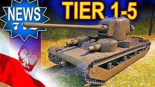 Polskie czołgi tier 1-5 jest fajnie czy nie? - World of Tanks