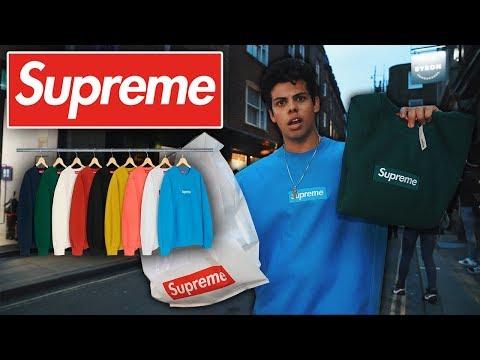 Supreme Box Logo Drop London ($1000 SWEATER!)