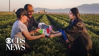 College grad honors parents with photos in fields where they worked
