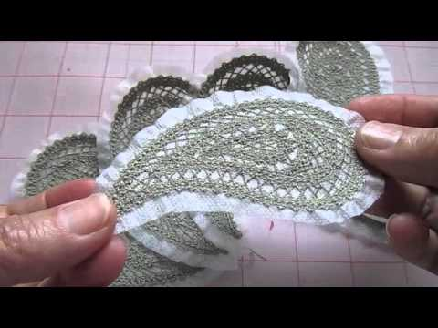 How To Machine Embroider A Paisley Designed Free Standing