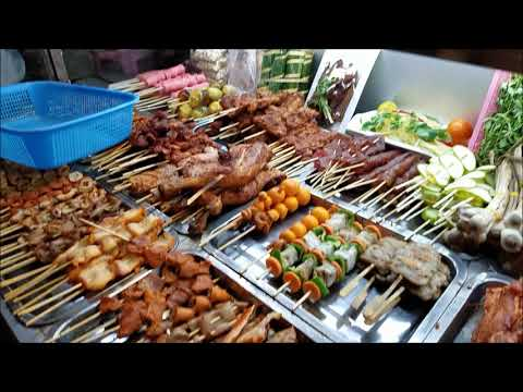 ăn đêm va uống beer tai phố tàu, Yangon city, Mien Dien / Beer street and Night food market