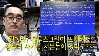 컴퓨터 수리 블루스크린이 뜨게해서 컴퓨터 사기를 치는놈…