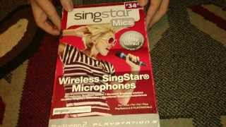 Nostalgamer Unboxes Singstar Wireless Microphones On Sony Playstation 3 Three UK PAL System Version