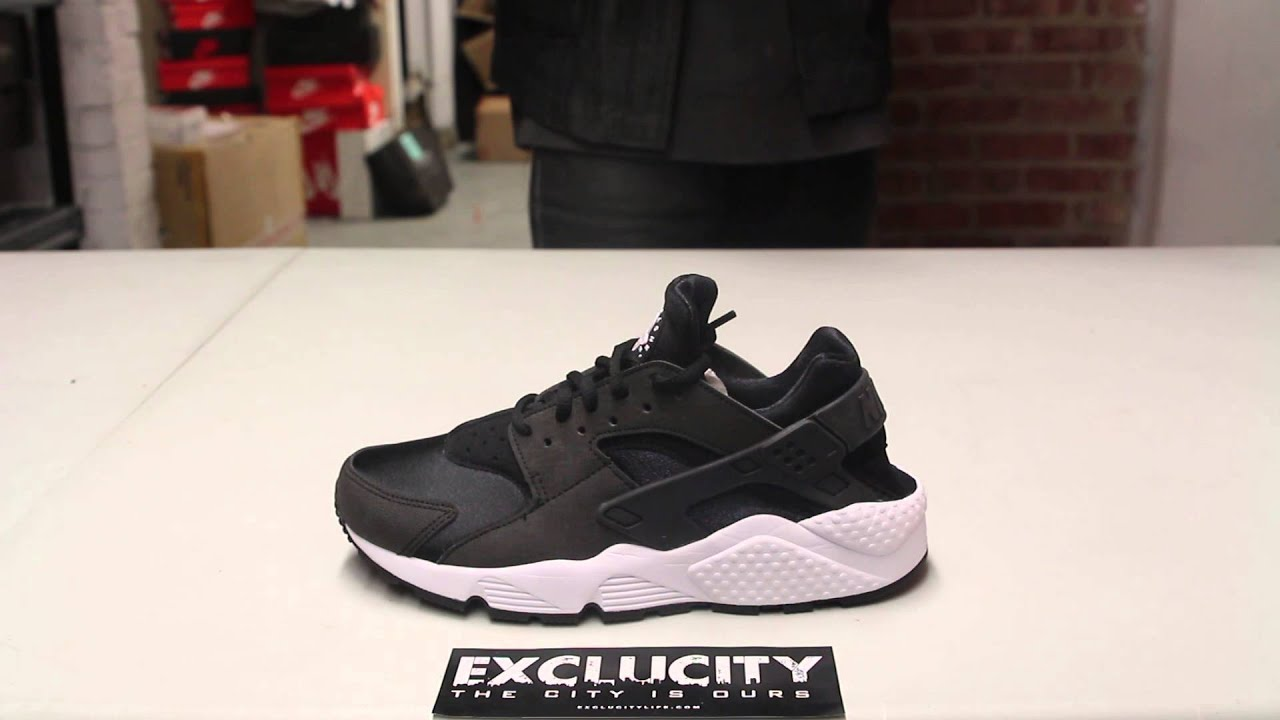 Nike Air Huaraches White And Black