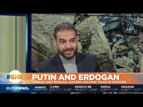 Vladimir Putin and Recep Tayyip Erdogan holding talks in Moscow | #GME
