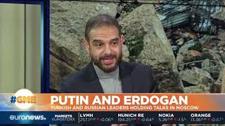 Vladimir Putin and Recep Tayyip Erdogan holding talks in Moscow   #GME